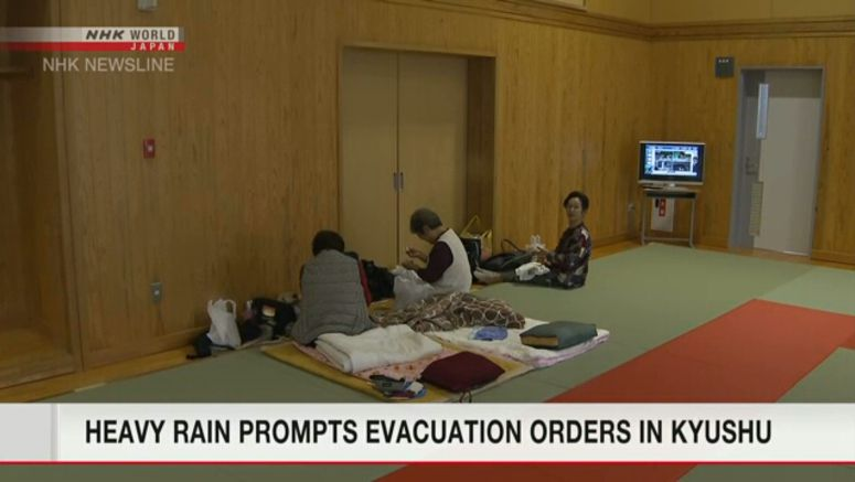 Over a million ordered to evacuate in Kyushu