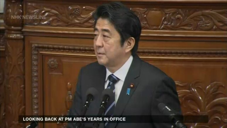 Looking back at PM Abe's years in office