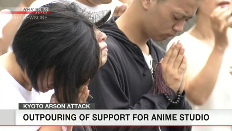Prayers continue for Kyoto anime studio victims