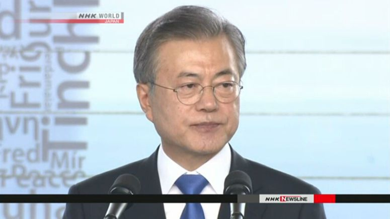 Moon calls on Japan to retract export restrictions