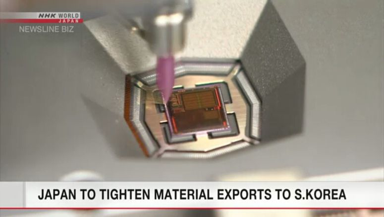 Japan to tighten material exports to S. Korea