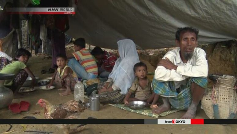 Japan FM pledges support for Rohingya refugees