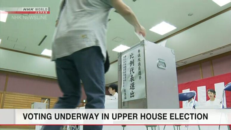 Voting underway in Upper House election