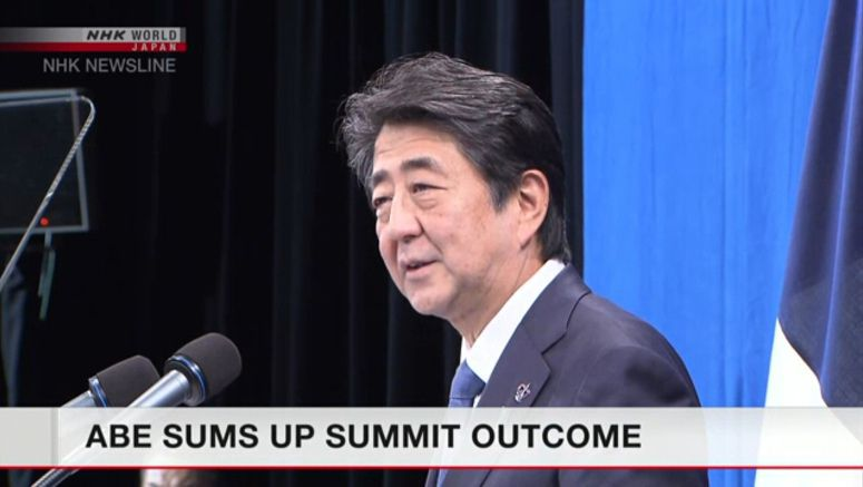 Abe: G7 leaders agree on approach to N.Korea