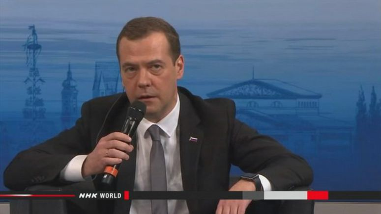 Russian PM may visit Japan-claimed island