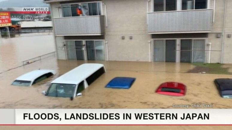 Floods, landslides in western Japan