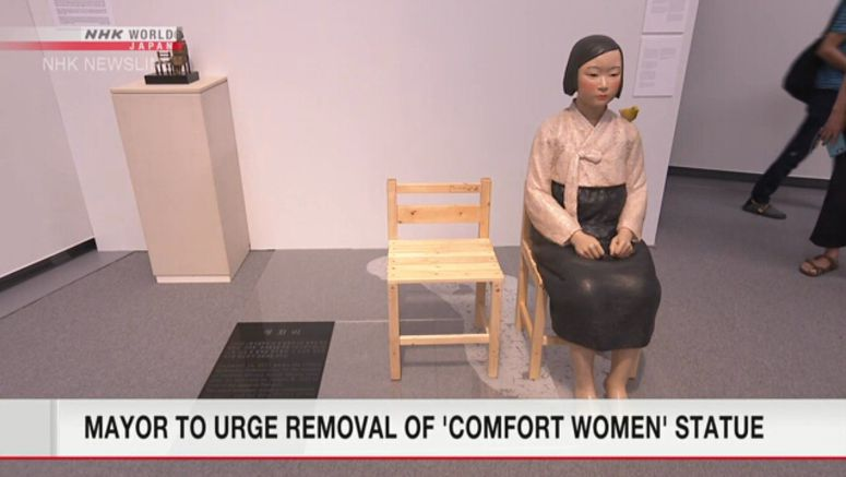 Mayor to urge removal of 'comfort women' statue