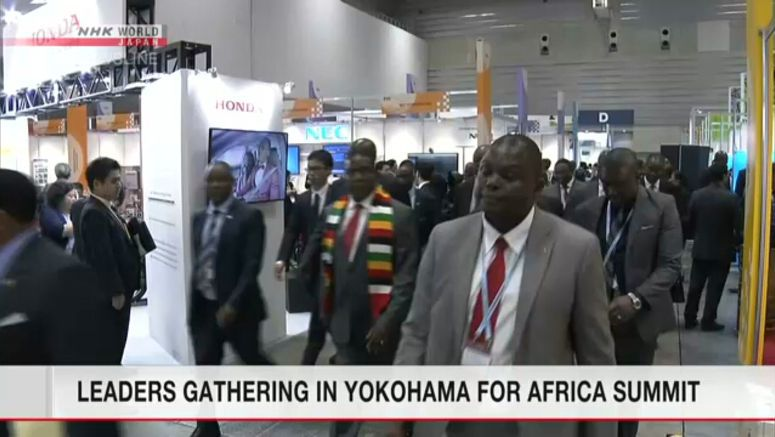 Leaders gathering in Yokohama for Africa summit