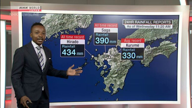 Analysis on torrential rains in western Japan