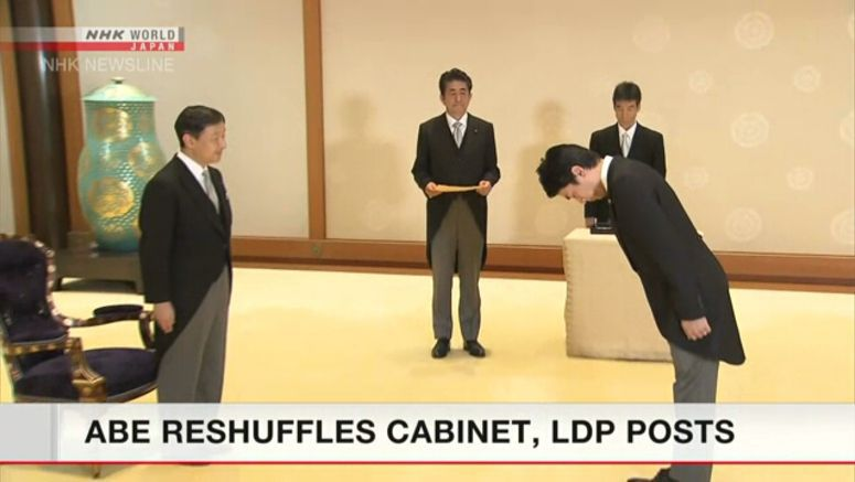 Abe's new Cabinet lineup