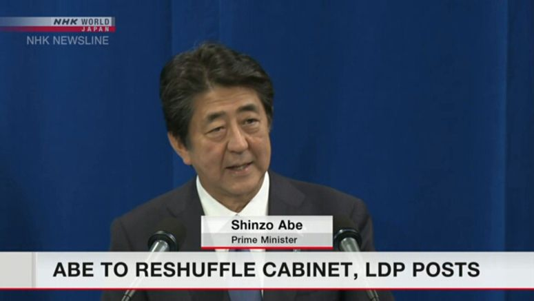 PM Abe to reshuffle Cabinet, top LDP posts