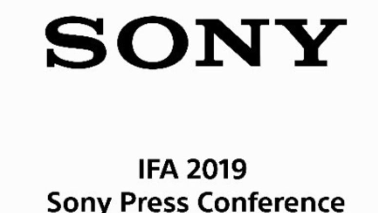 Watch the Sony IFA 2019 live stream here