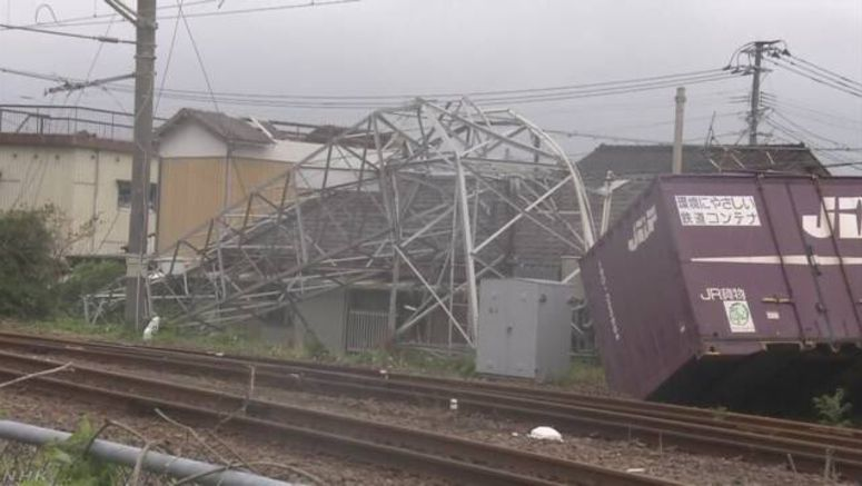 Strong winds cause damage in Miyazaki