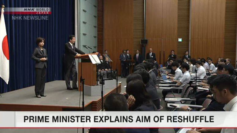 Prime minister explains aim of reshuffle