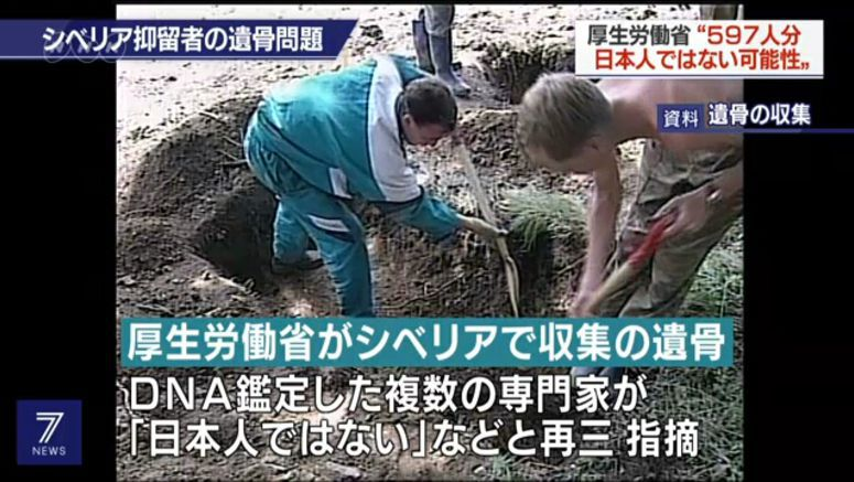 Remains of 597 from Siberia may not be of Japanese