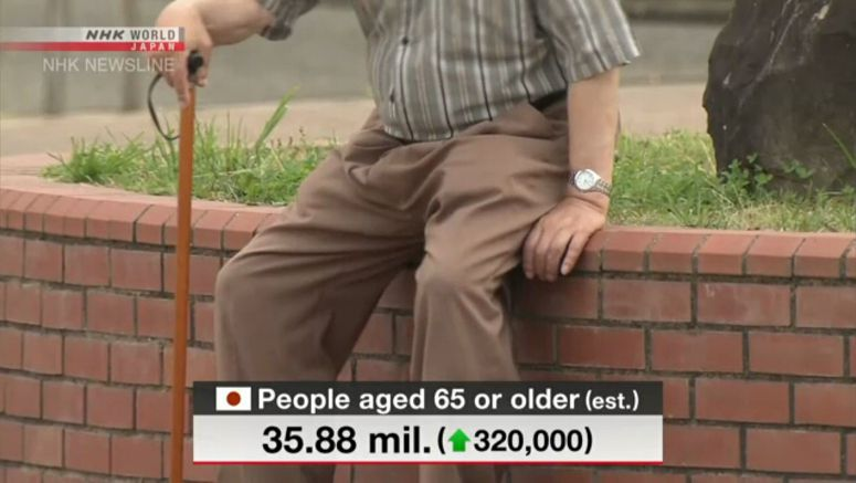 Japan's elderly population hits record high