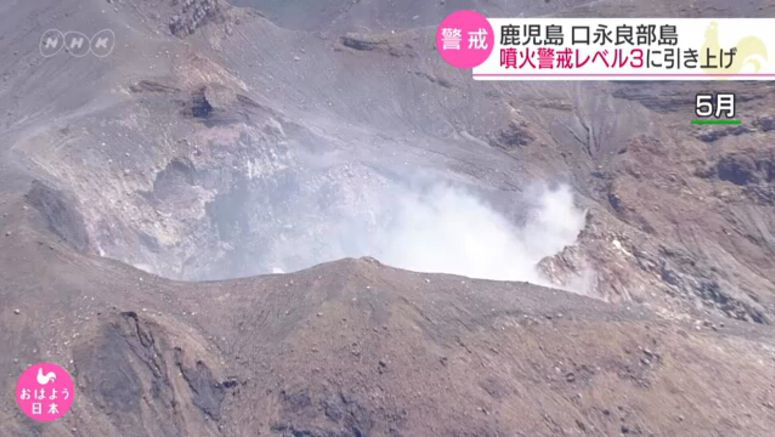 Alert level raised for volcano in Kagoshima