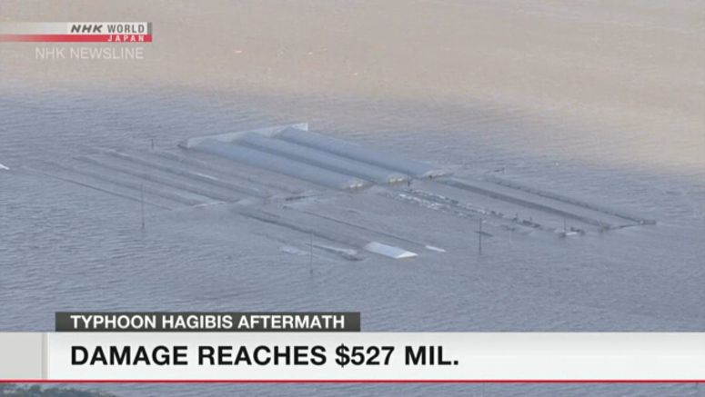 Hagibis damage to agriculture reaches 57 bil. yen