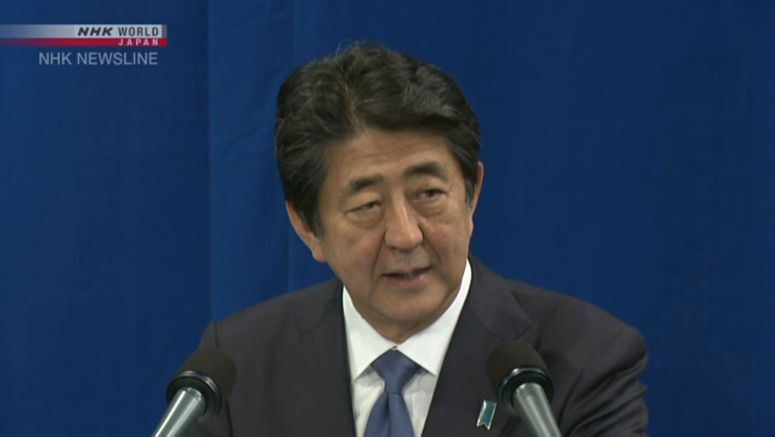 Abe visits typhoon-hit areas in Fukushima