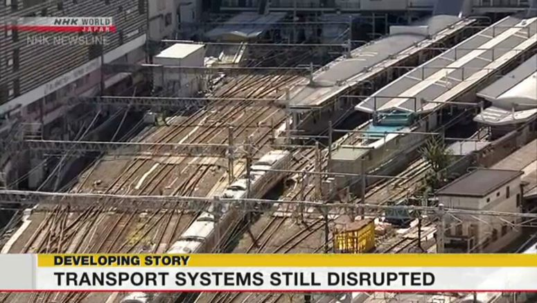 Public transport system still disrupted