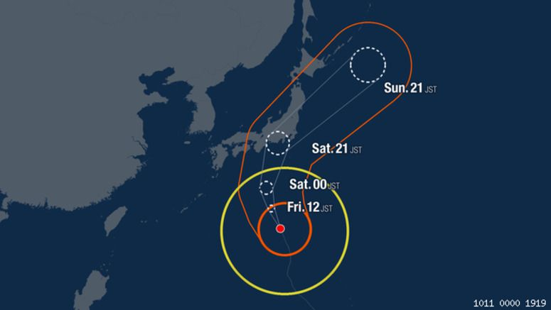 Tokyo region in path of massive Typhoon Hagibis