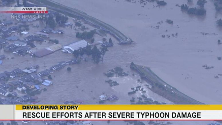 At least 28 people dead from Typhoon Hagibis