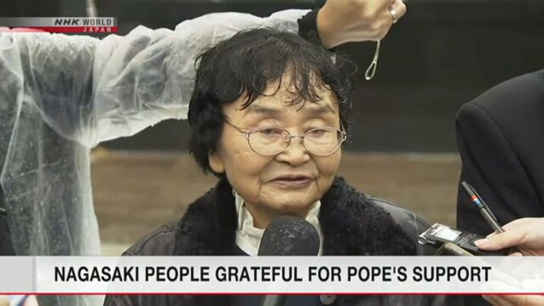 Nagasaki people grateful for Pope's support