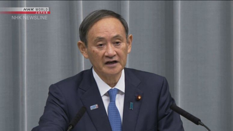 Suga hopes Hong Kong will maintain stability