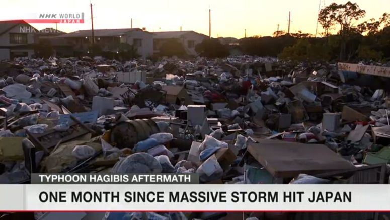 One month since Typhoon Hagibis tore through Japan