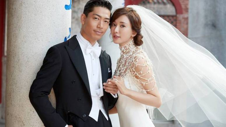 EXILE AKIRA and Lin Chi-Ling hold their wedding ceremony