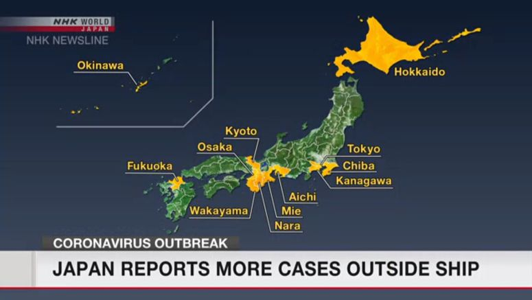 Coronavirus: Japan reports more cases outside ship