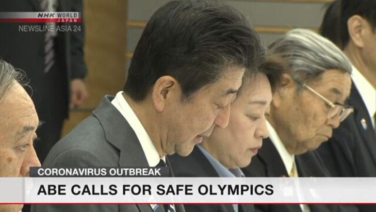 Abe stresses importance of safety for Olympics