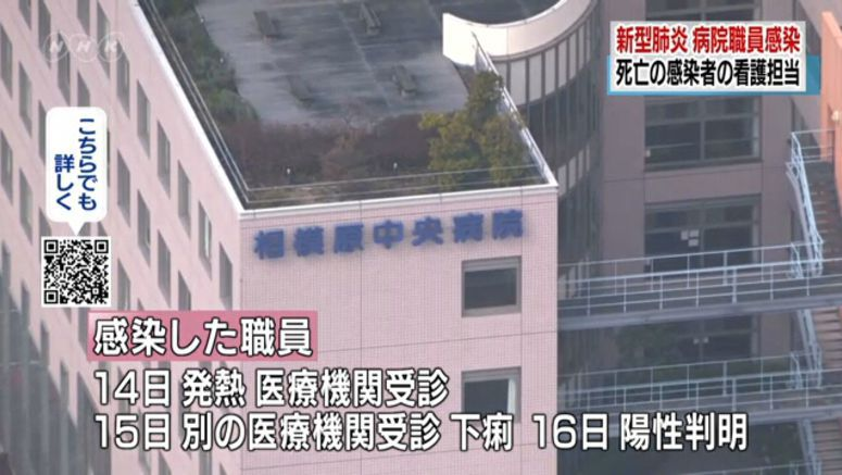 Nurse in Kanagawa Pref. has coronavirus
