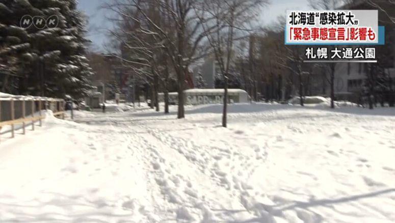 Sapporo streets quiet amid coronavirus emergency