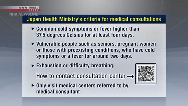 Govt. releases coronavirus consultation criteria