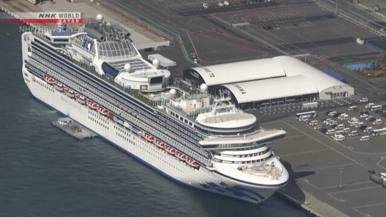 Final group disembarks from Diamond Princess