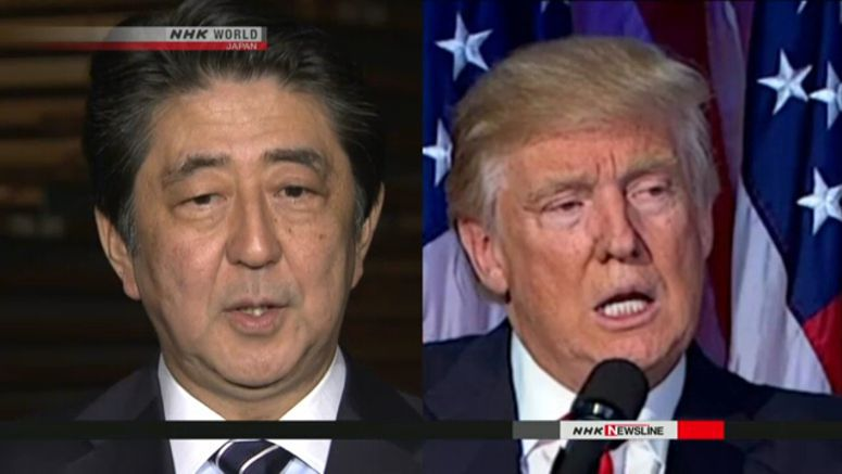 Abe, Trump hold teleconference