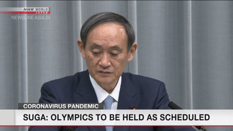 Suga: Japan intends to hold Olympics as scheduled