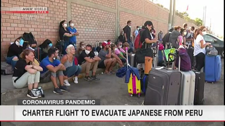 Charter flight to evacuate Japanese from Peru