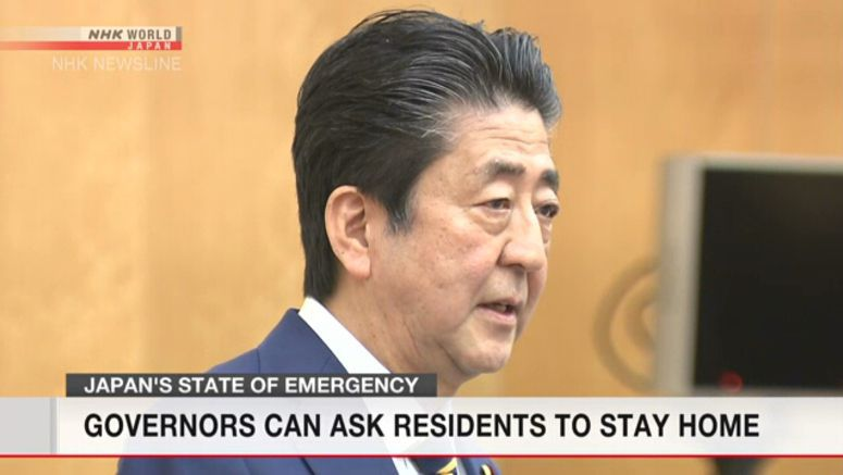 Japan's PM Abe explains emergency decision