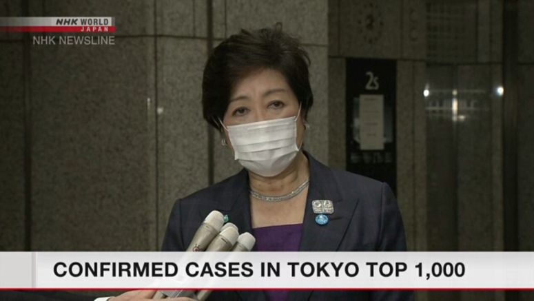 Koike: Number of new cases 'astonishing'
