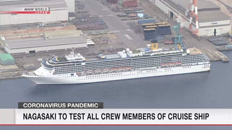 More coronavirus cases on cruise ship in Nagasaki