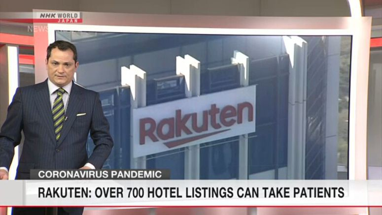 Rakuten: Over 700 hotels can take patients