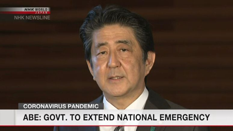 Abe set to extend state of emergency