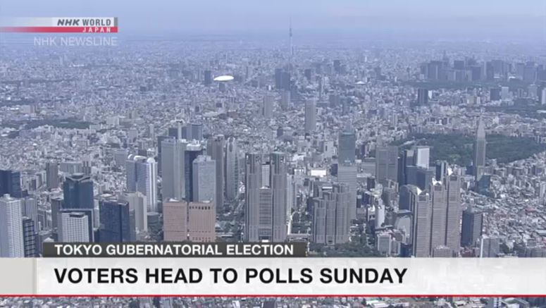 Tokyo voters to select governor on Sunday