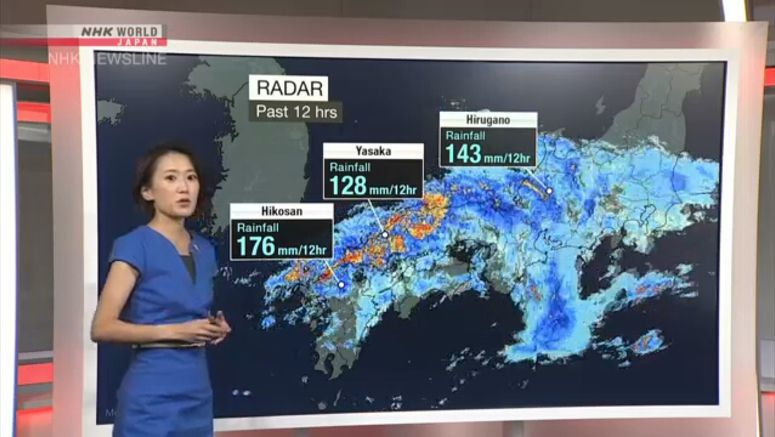 Analysis on heavy rains in parts of Japan