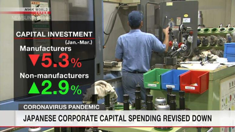 Japanese corporate capital spending revised down