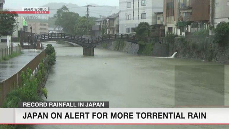 Rain continues to lash western, eastern Japan