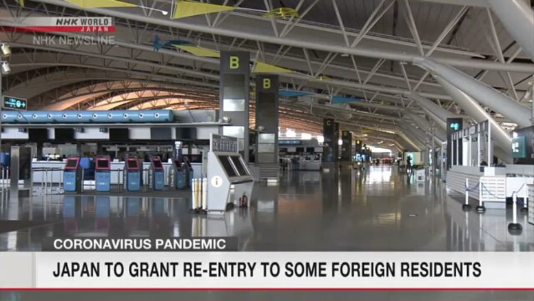 Japan to grant re-entry to some foreign residents
