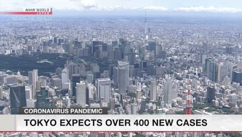 Tokyo expects over 460 new virus cases on Friday